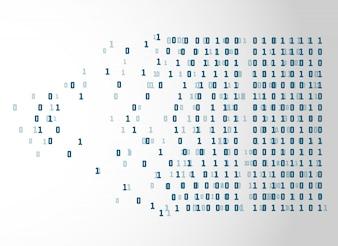 Fond de concept technologie netwrok code binaire