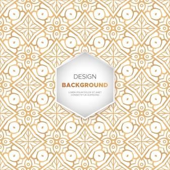 Fond de conception mandala ornemental luxe en vecteur de couleur or
