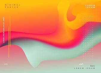 Fond de couleur fluide abstrait coloré