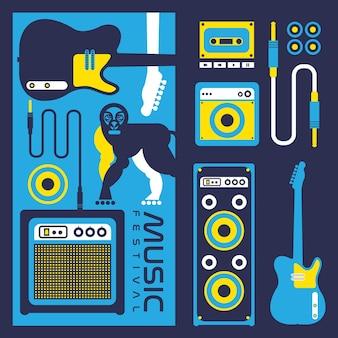 Fond de festival de musique