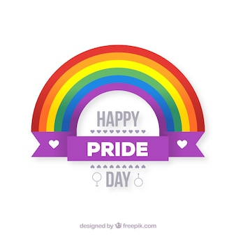 Fond de fierté LGBT avec arc-en-ciel plat