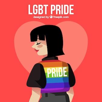 Fond de fierté LGBT avec une fille