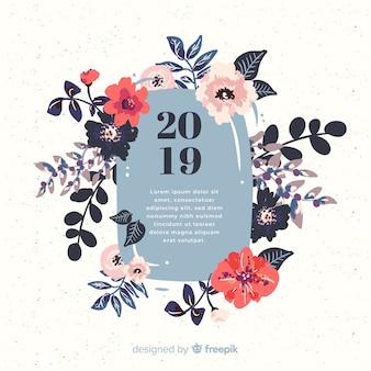 Fond de fleurs nouvel an 2019