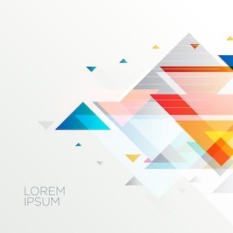 Fond de formes triangle géométrique abstrait