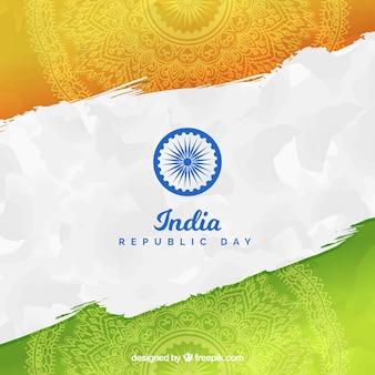 Fond de jour république inde dessinés à la main