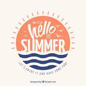 Fond de l'été avec lettrage