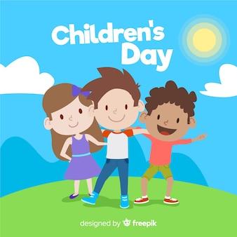Fond de la journée des enfants