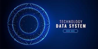 Fond de la technologie des points futuristes