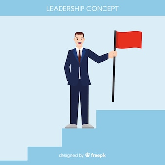 Fond de leadership au design plat