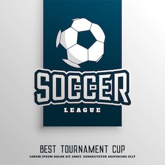 Fond de ligue de tournoi de football soccer