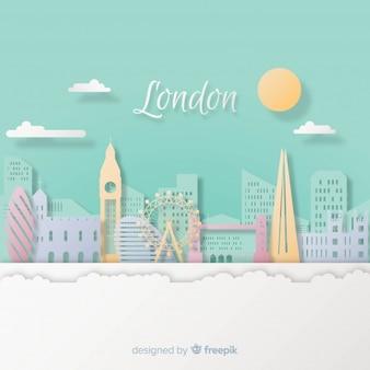 Fond de Londres avec style art papier