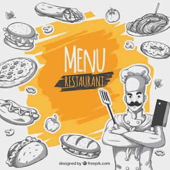 Fond de menu de restaurant
