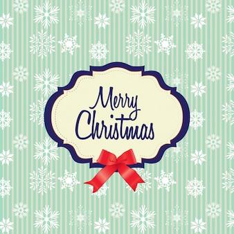 Fond de Noël joyeux avec des flocons de neige blanches