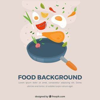 Fond de nourriture avec un design plat