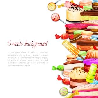Fond de nourriture sucrée
