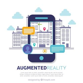 Fond de réalité augmentée avec dispositif