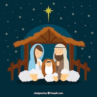 Fond de scène de la Nativité
