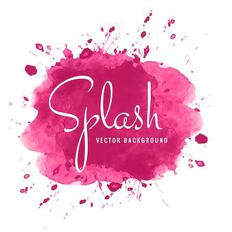 Fond de splash aquarelle rose abstrait