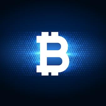 Fond de symbole de bitcoins numérique internet