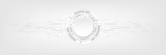 Fond de technologie abstrait gris blanc