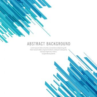 Fond de technologie de lignes bleues abstraites
