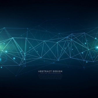 Fond de technologie numérique composée de lignes de maillage