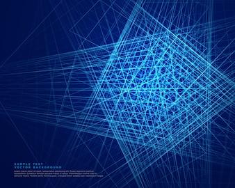 Fond de technologie web lignes bleues abstraites