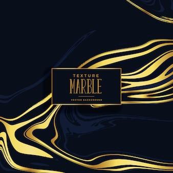 Fond de texture de marbre noir et or premium