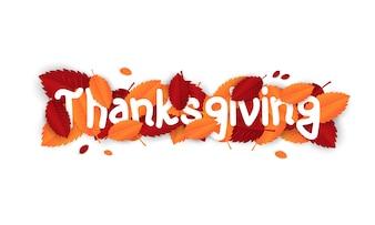 Fond de Thanksgiving avec des feuilles pour les soldes, les affiches promotionnelles et le dépliant cadre