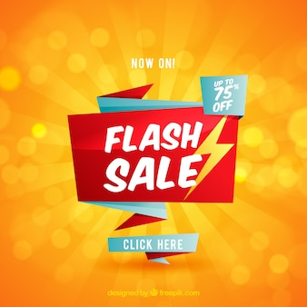Fond de vente flash dans un style plat