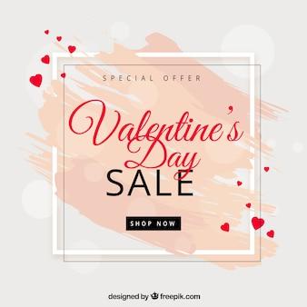 Fond de vente Saint-Valentin