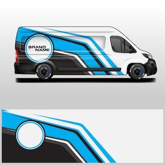 Fond de décalque de vecteur de conception d'entreprise d'enveloppe de voiture