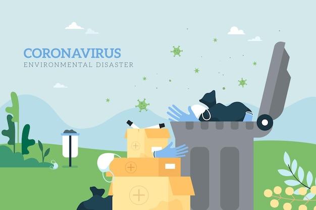 Fond de déchets de coronavirus