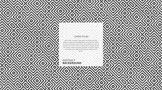 Fond décoratif abstrait lignes carrées diagonales