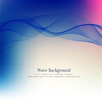 Fond décoratif abstrait vague bleue élégante