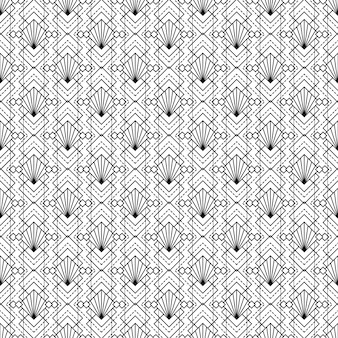Fond décoratif art déco seamless pattern texture