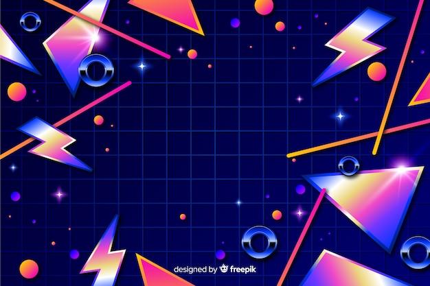 Fond décoratif coloré géométrique des années 80