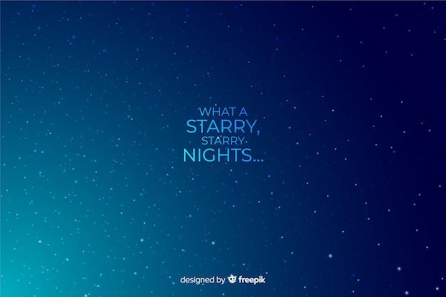 Fond décoratif dégradé nuit étoilée