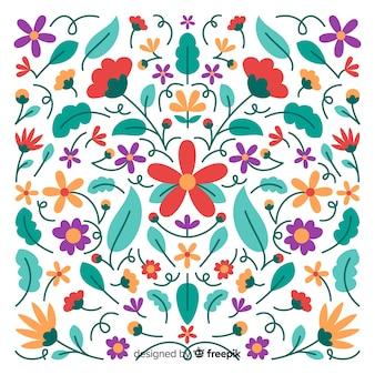 Fond décoratif floral mexicain de broderie