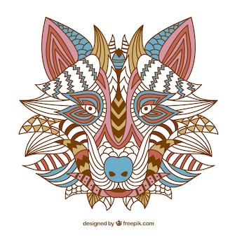 Fond décoratif de loup décoratif