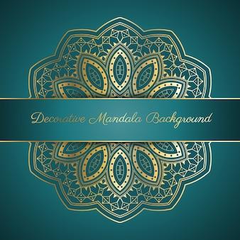 Fond décoratif avec motif en or mandala