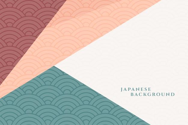 Fond décoratif de style japonais géométrique