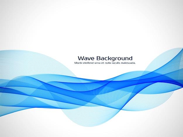 Fond décoratif de vague bleue moderne