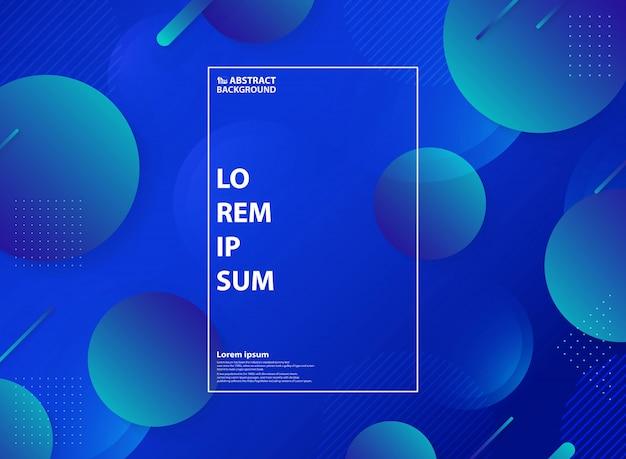 Fond de décoration abstraite fluide bleu page de destination.
