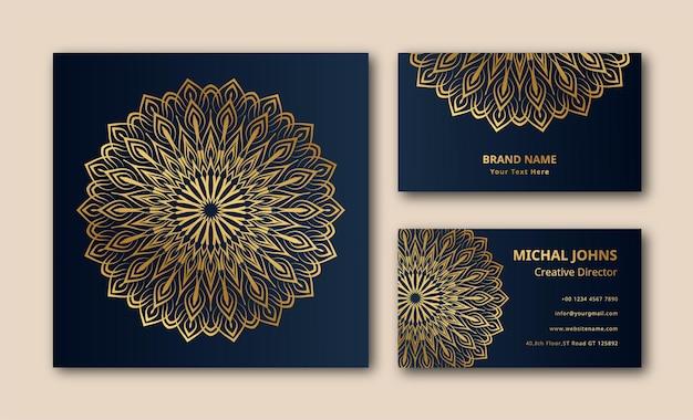 Fond de décoration carte de visite mandala vectoriel