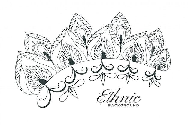 Fond de décoration florale de style henné indien
