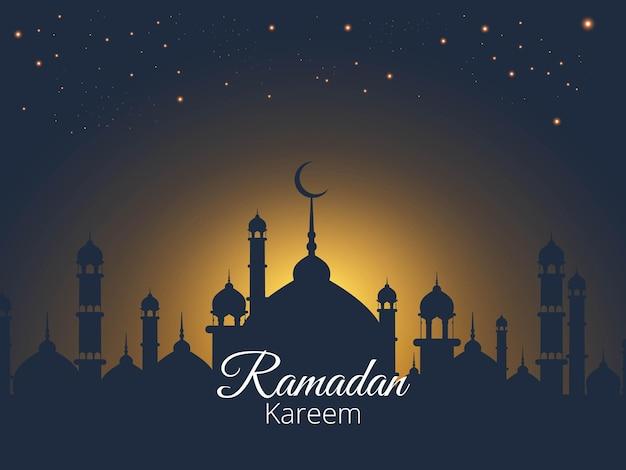 Fond de décoration islamique pour le ramadan kareem
