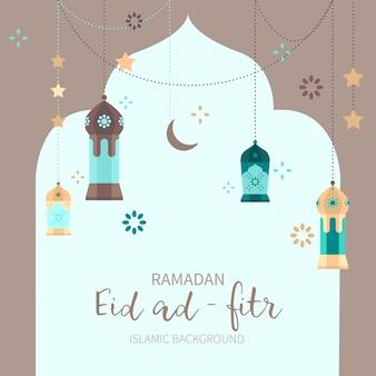 Fond de décoration de ramadan
