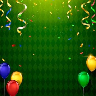 Fond de décorations de fête