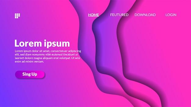 Fond de découpe de papier dégradé moderne rose violet